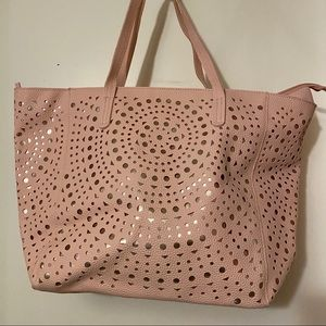 Never used blush and rose gold tote